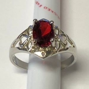 Jewelry - Sterling Silver and Garnet Ring